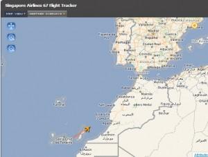 El avión, a las 7 y media de la mañana, rumbo a Barcelona.